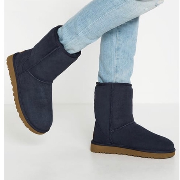 UGG Shoes - Navy Classic Ugg Short Boot